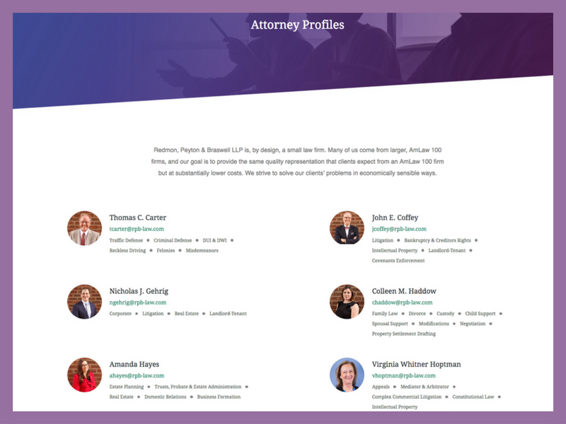 Law Firm Attorney Profiles