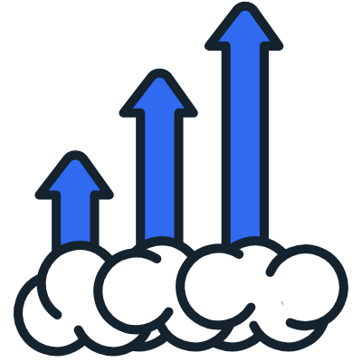 increase traffic icon