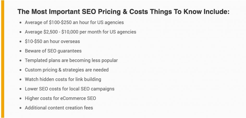 How Much Does SEO Cost? The 2020 SEO Pricing Guide 7