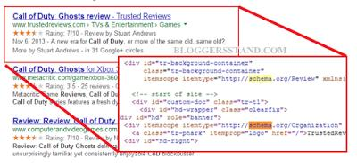 schema markup in search results