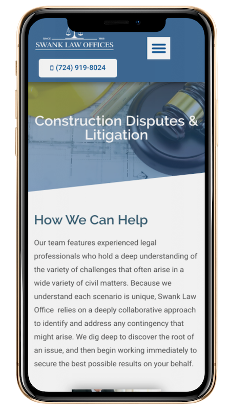 mobile friendly legal web design