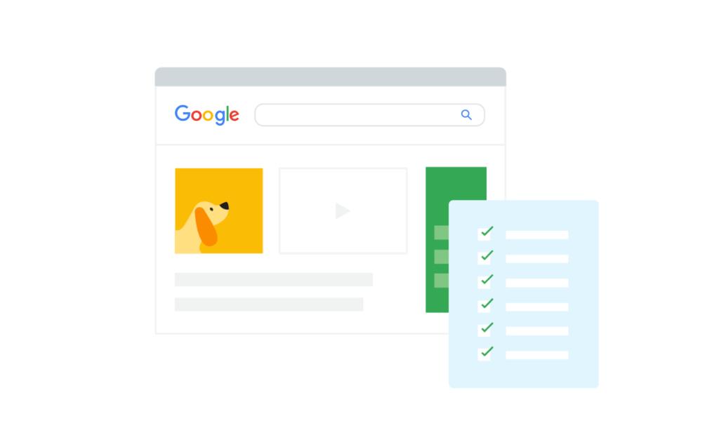 Google Algorithm in search results