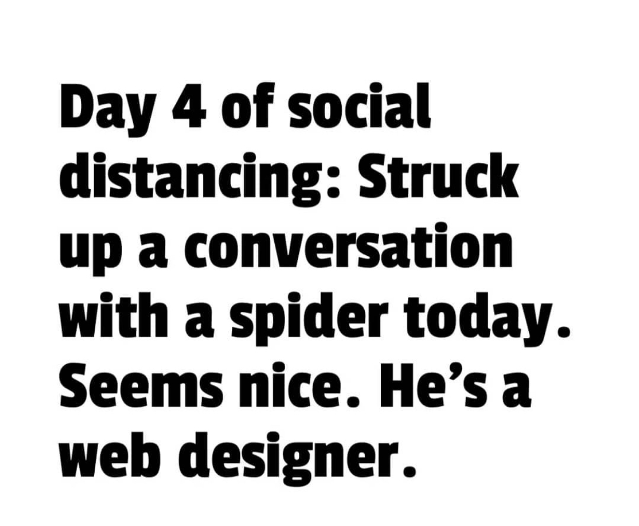 social distancing web design meme