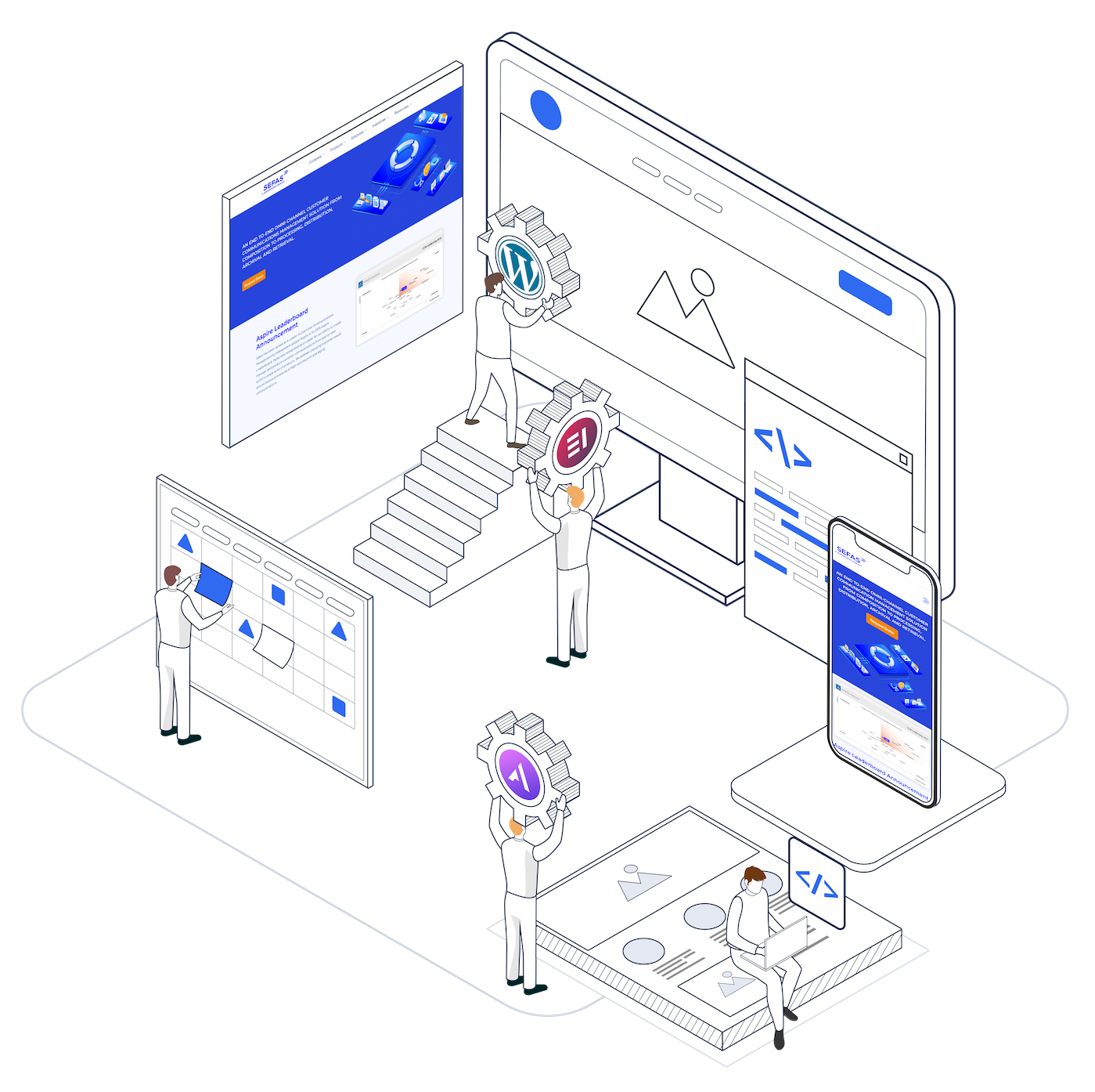 web design process illustration