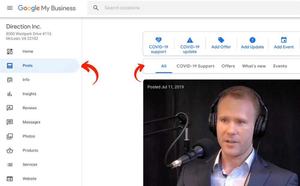 positng on google my business
